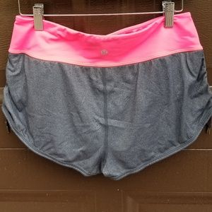 Lululemon Pink and Gray Compression Shorts